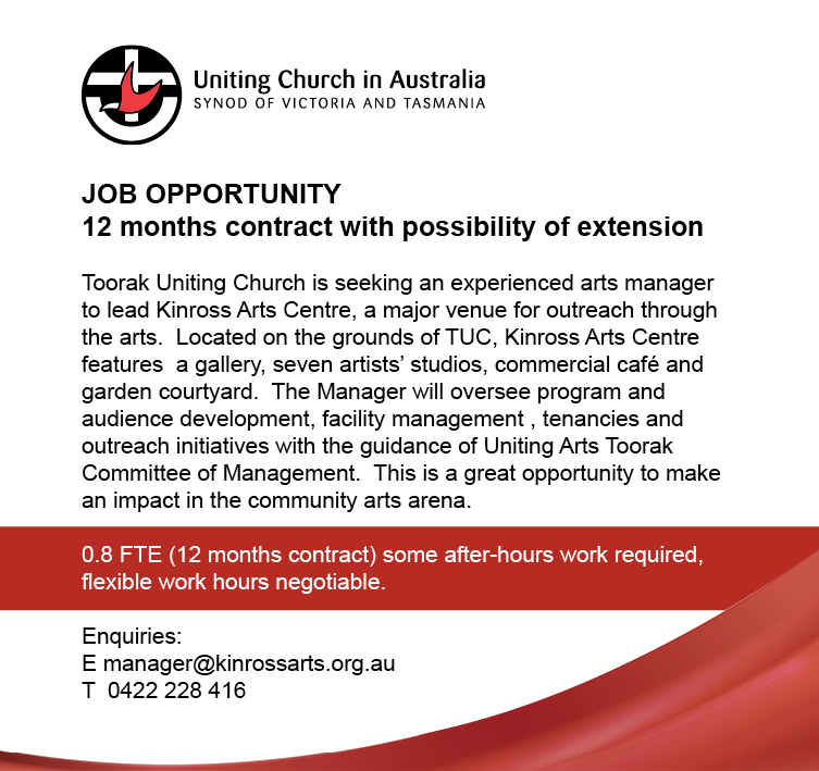 Arts Manager - Toorak Uniting Church