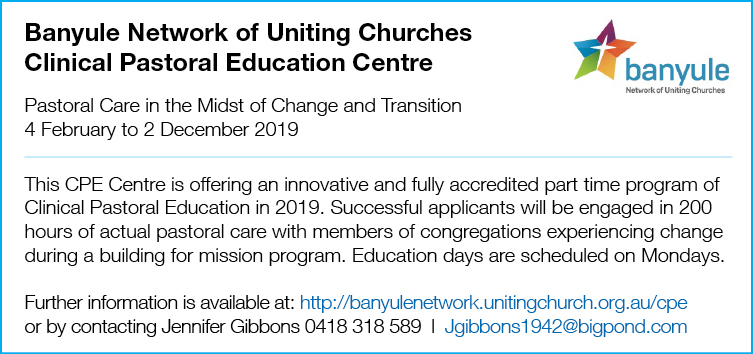 Banyule Network of Uniting Churches – Clinical Pastoral Education Centre